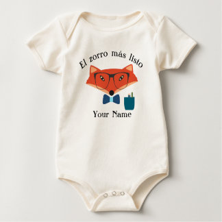 Clever Fox Spanish Language Baby Bodysuit