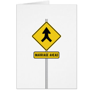 Clever Merge Road Sign Wedding Card Invitation