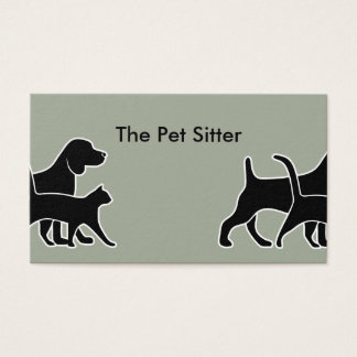 Clever Pet Sitter Design Business Card