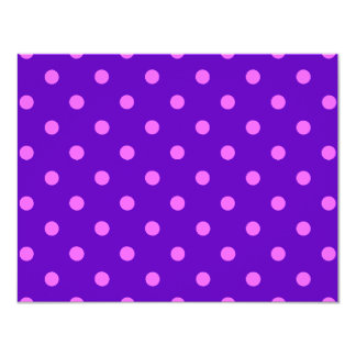 Clever Purple Polka Dot Cards, Notecards, Stickers 11 Cm X 14 Cm Invitation Card