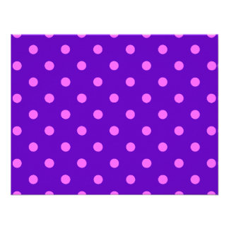 Clever Purple Polka Dot Cards Notecards Stickers Personalized Invites