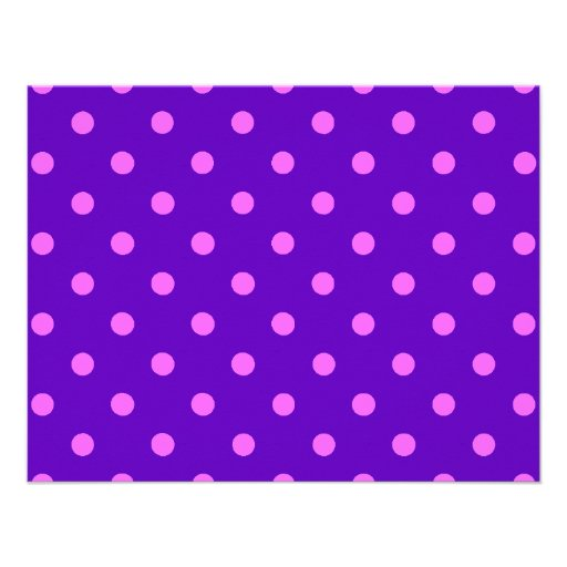 Clever Purple Polka Dot Cards, Notecards, Stickers Personalized Invites