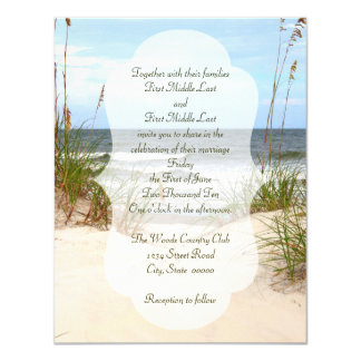 Click customise to change size - Beach Wedding Card