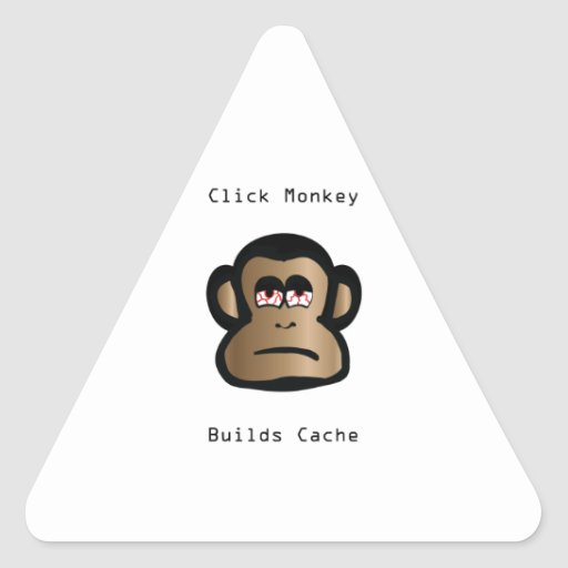Click Monkey Builds Cache Triangle Sticker