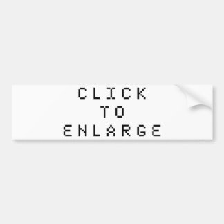 Click To Enlarge Bumper Sticker