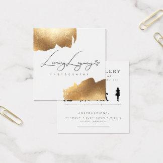 CLIENT ACCESS CARD | Gold Brush Minimalist