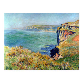 Cliff at Grainval by Claude Monet Postcard
