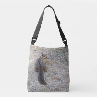 Cliff Chipmunk on a Rock Crossbody Bag