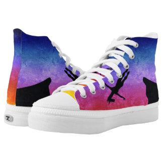 Cliff Dive Unicorn Printed Shoes