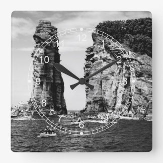 Cliff Diving event Square Wall Clock