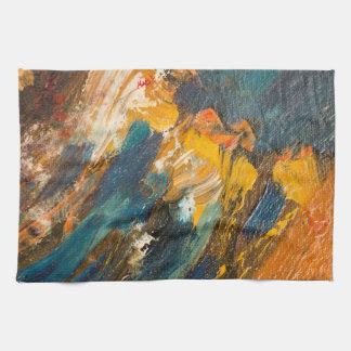 Cliff Dwellers Abstract Towel