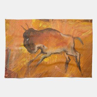 Cliff Dwellers Buffalo Tea Towel