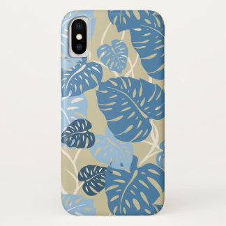 Cliff Hanger Hawaiian Monstera Leaf iPhone X Case