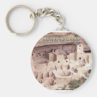 Cliff Palace Basic Round Button Key Ring
