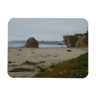Cliffs Along Pismo Beach Shoreline Rectangular Photo Magnet