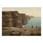 Cliffs at Moher, County Clare Poster