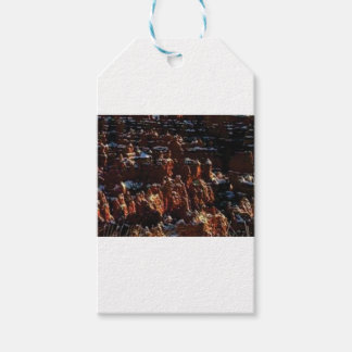 cliffs of the red rock of snow gift tags