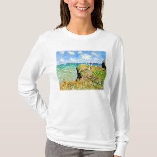 Clifftop Walk at Pourville by Claude Monet T-Shirt