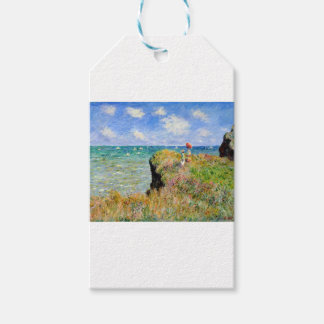 Clifftop Walk at Pourville - Claude Monet Gift Tags