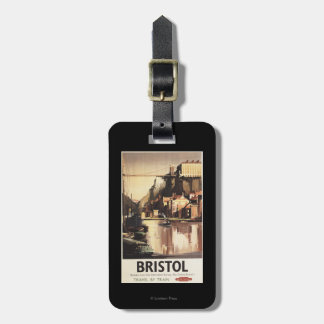 Clifton Suspension Bridge and Boats Luggage Tag