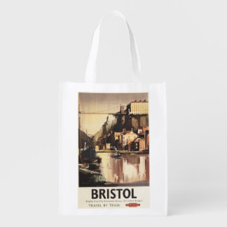 Clifton Suspension Bridge and Boats Reusable Grocery Bag