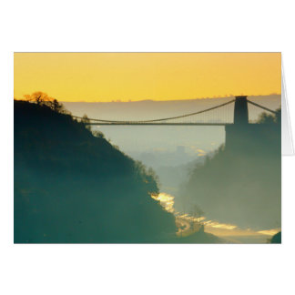 Clifton Suspension Bridge, Bristol. Card