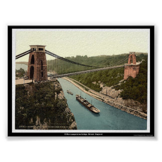Clifton suspension bridge, Bristol, England Poster