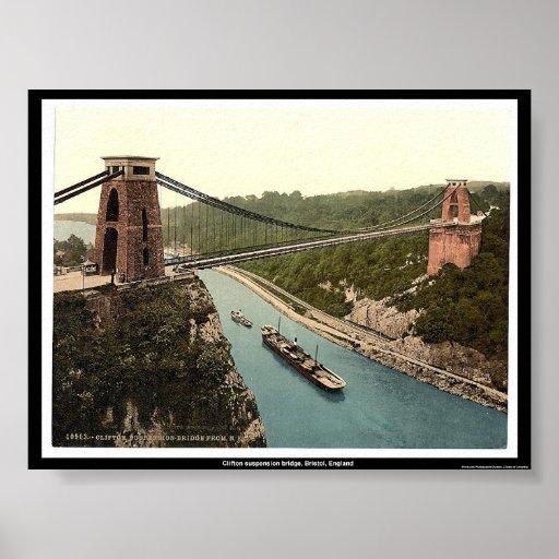 Clifton suspension bridge, Bristol, England Posters