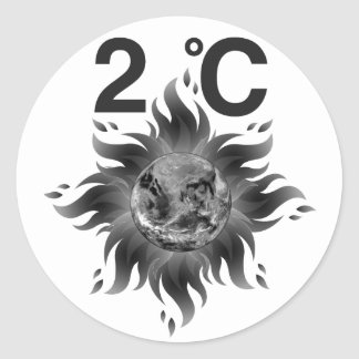Climate Change Awareness = Climate Action! Classic Round Sticker