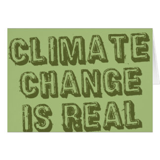 Climate Change Greeting Card - Green on Green