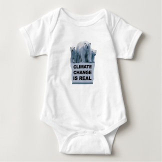 CLIMATE CHANGE IS REAL BABY BODYSUIT