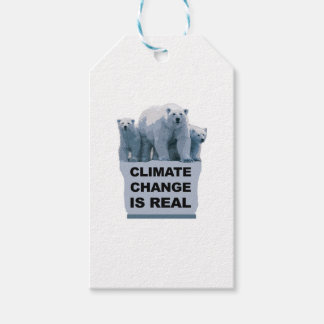 CLIMATE CHANGE IS REAL GIFT TAGS