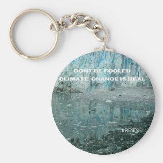 Climate Change Is Real Melting Glacier Key Ring