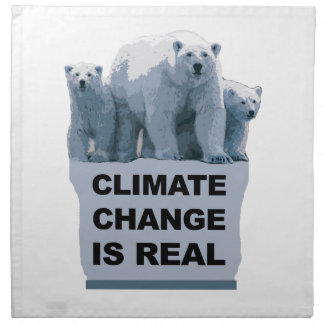 CLIMATE CHANGE IS REAL NAPKIN