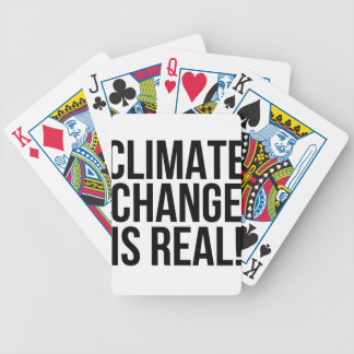 Climate Change is Real! Planet Earth World Bicycle Playing Cards