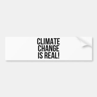 Climate Change is Real! Planet Earth World Bumper Sticker