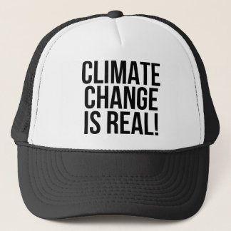 Climate Change is Real! Planet Earth World Trucker Hat