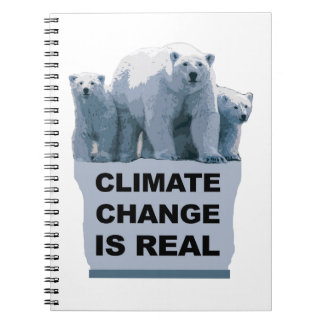 CLIMATE CHANGE IS REAL SPIRAL NOTEBOOK