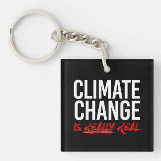 CLIMATE CHANGE IS REALLY REAL - - Pro-Science -- w Key Ring