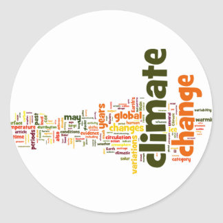 climate change two classic round sticker