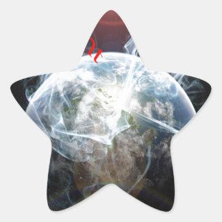 Climate warming star sticker