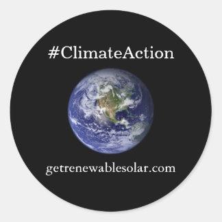 #ClimateAction Round Sticker