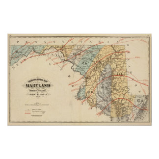 Climatological map of the State of Maryland Poster