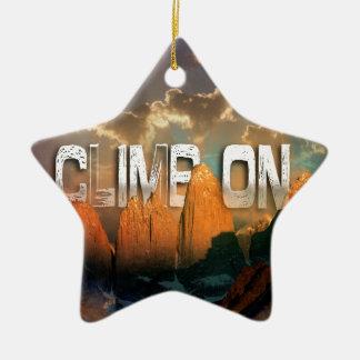 Climb the Mountains Ceramic Star Decoration