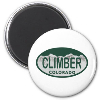 climber license oval 6 cm round magnet