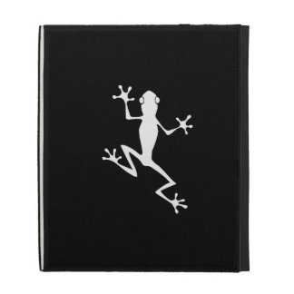 Climbing Frog Silhouette iPad Cases