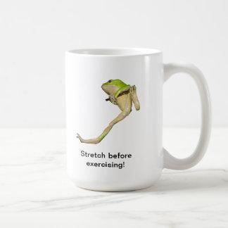 climbing green tree frog mug