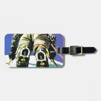 Climbing high luggage tag