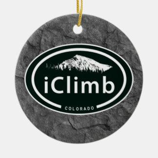"Climbing ""iClimb"" Oval CO Mountain Tag Ornament"
