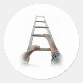 Climbing Jacob's Ladder Classic Round Sticker
